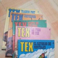 Cómics: LOTE DE 5 TEX Nº 69- 82-85-86-87 EDICIONES BURU LAN, S.A 1971. Lote 144583558