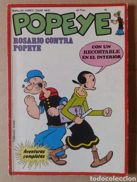 POPEYE: ROSARIO CONTRA POPEYE. BURULAN COMICS COLOR N°23 (BURULAN, 1974). (Tebeos y Comics - Buru-Lan - Popeye)