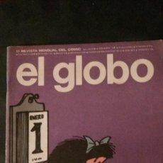 Cómics: EL GLOBO Nº 11-1974-MAFALDA-QUINO-MORDILLO-GUIDO CREPAX. Lote 145276166