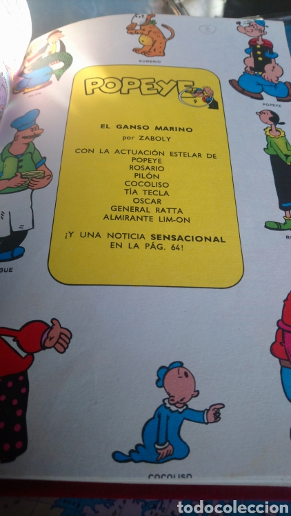 Cómics: 5 números de popeye nº7, 8,9,10,11. Ediciónes Buru lan 1971 - Foto 4 - 145897996