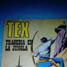 Cómics: TEX - BURU LAN - NUMERO 75 - TRAGEDIA EN LA JUNGLA . Lote 146462242