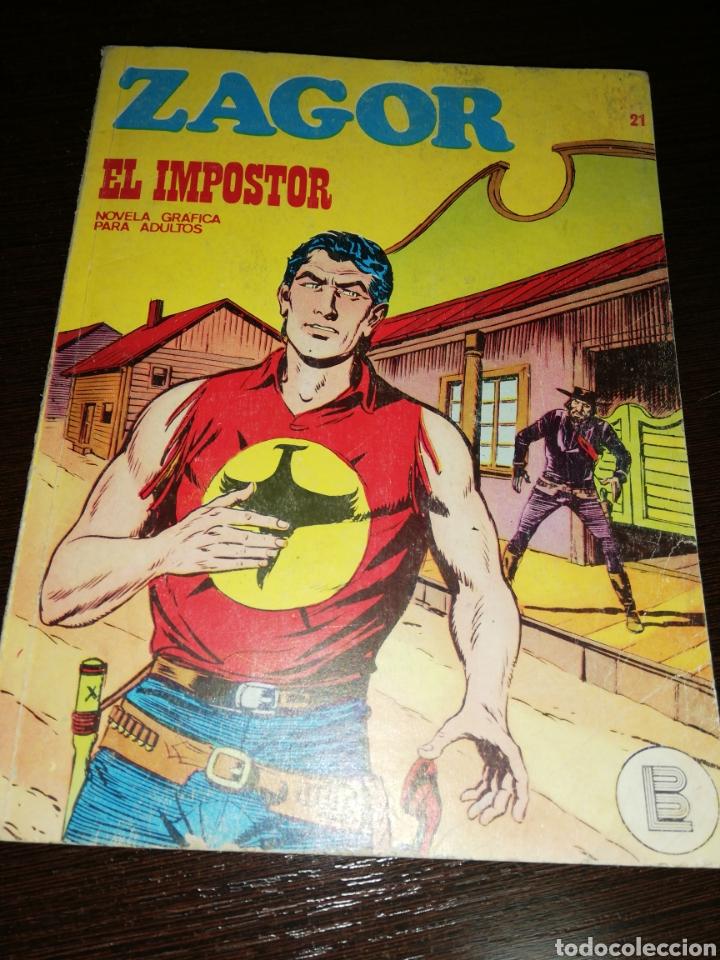 ZAGOR EL IMPOSTOR. 21 CÓMIC 1972 (Tebeos y Comics - Buru-Lan - Zagor)
