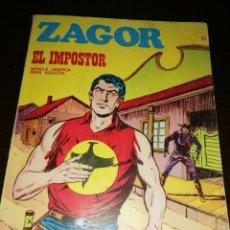 Cómics: ZAGOR EL IMPOSTOR. 21 CÓMIC 1972. Lote 146792464