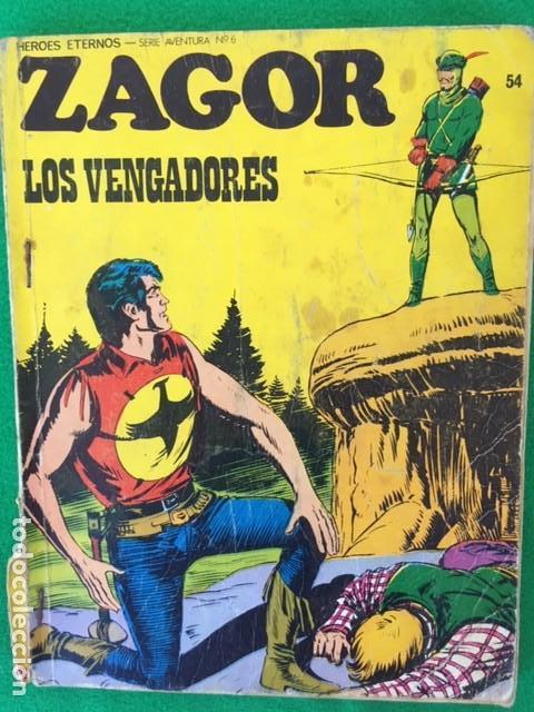 ZAGOR Nº 54 - LOS VENGADORES - ED. BURU LAN (Tebeos y Comics - Buru-Lan - Zagor)