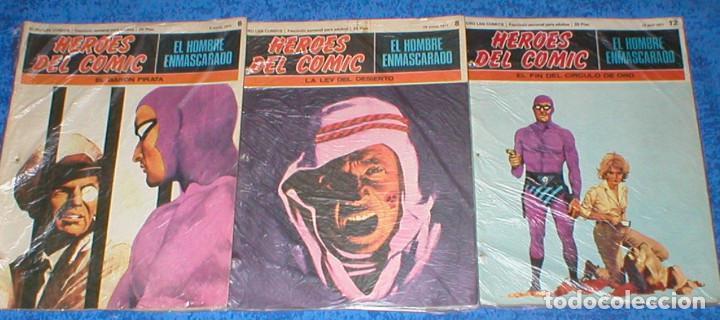 LOTE 3 TEBEOS HEROES DEL COMIC EL HOMBRE ENMASCARADO Nº 6 / 8 / 12 ORIGINAL 1971 BURU LAN OFERTA !!! (Tebeos y Comics - Buru-Lan - Hombre Enmascarado)