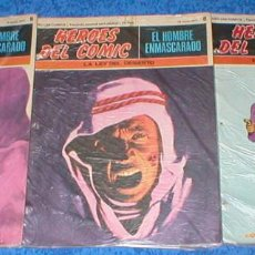 Cómics: LOTE 3 TEBEOS HEROES DEL COMIC EL HOMBRE ENMASCARADO Nº 6 / 8 / 12 ORIGINAL 1971 BURU LAN OFERTA !!!. Lote 148049082