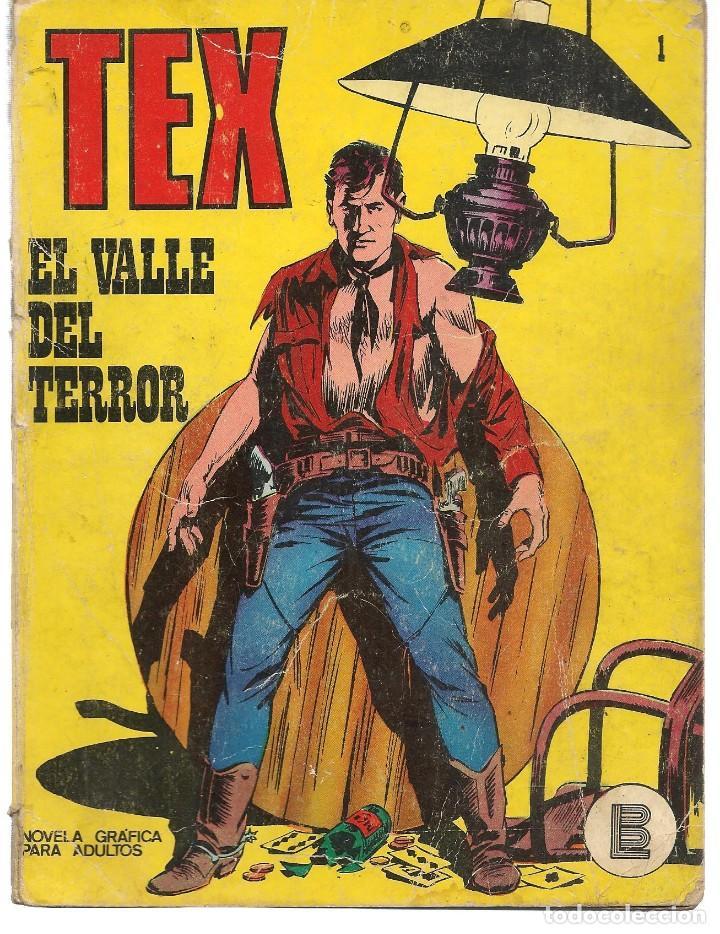TEX. Nº 1. EL VALLE DEL TERROR. BURU LAN EDICIONES. (RF.MA)PL12 (Tebeos y Comics - Buru-Lan - Tex)