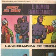 Cómics: EL HOMBRE ENMASCARADO. FASCÍCULO 8. LA VENGANZA DE SINGH. HÉROES DEL COMIC. BURU LAN. (RF.MA)Ñ5. Lote 148778018