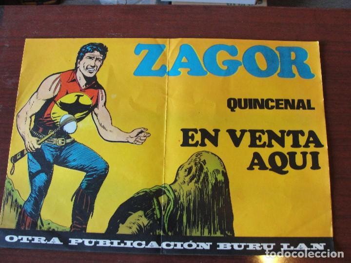 ¡¡ POSTER PUBLICITARIO PARA QUIOSCOS DE ZAGOR !! SIN USAR STOCK PAPELERIA - ENVIO GRATIS (Tebeos y Comics - Buru-Lan - Zagor)
