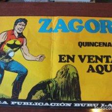 Cómics: ¡¡ POSTER PUBLICITARIO PARA QUIOSCOS DE ZAGOR !! SIN USAR STOCK PAPELERIA - ENVIO GRATIS. Lote 148959286