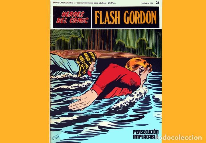 Cómics: FLASH GORDON, LOTE DE 4 FASCÍCULOS; Nº 21- 22- 23- 24 - PERTENECIENTES AL TOMO 2 - 1971 - BURU LAN - Foto 3 - 150816154