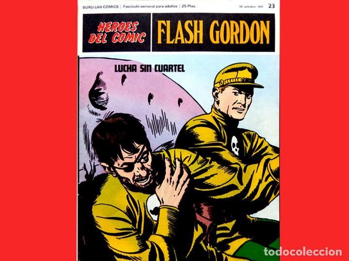 Cómics: FLASH GORDON, LOTE DE 4 FASCÍCULOS; Nº 21- 22- 23- 24 - PERTENECIENTES AL TOMO 2 - 1971 - BURU LAN - Foto 7 - 150816154