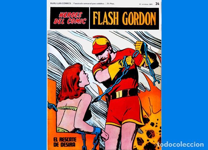Cómics: FLASH GORDON, LOTE DE 4 FASCÍCULOS; Nº 21- 22- 23- 24 - PERTENECIENTES AL TOMO 2 - 1971 - BURU LAN - Foto 9 - 150816154