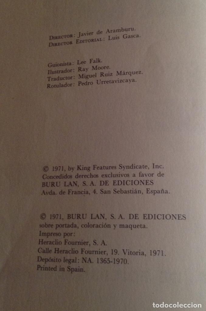 Cómics: EL HOMBRE ENMASCARADO TOMO 2, LOS ESPÍAS DEL ALBASTROS, BURU LAN EDICIONES AÑO 1971. - Foto 7 - 150977234