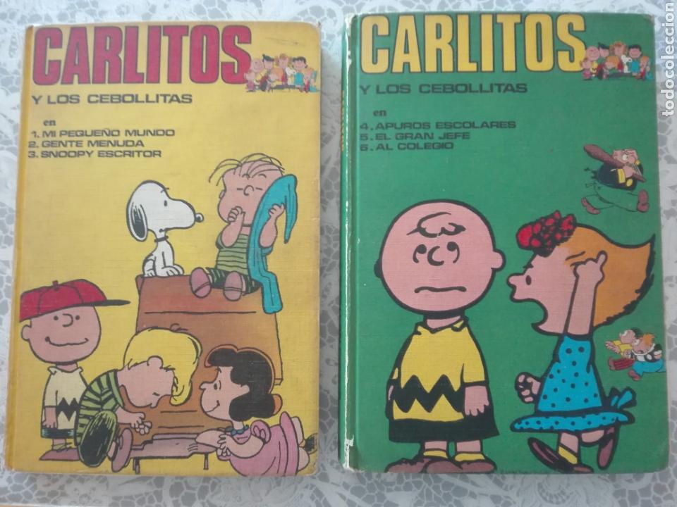 LOTE CARLITOS Y LOS CEBOLLITAS SNOOPY. BURU LAN 1971. (Tebeos y Comics - Buru-Lan - Otros)