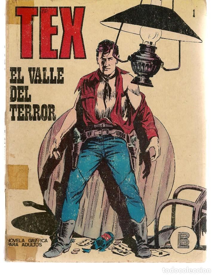 TEX. Nº 1. EL VALLE DEL TERROR. BURU LAN 1971 (P/D10) (Tebeos y Comics - Buru-Lan - Tex)