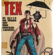 Cómics: TEX. Nº 1. EL VALLE DEL TERROR. BURU LAN 1971 (P/D10). Lote 152025202