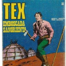Cómics: TEX. Nº 22. EMBOSCADA SANGRIENTA. BURU LAN 1971 (P/D10). Lote 152025790