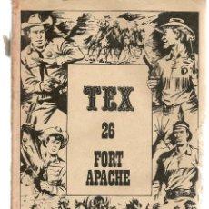 Cómics: TEX. Nº 26. FORT APACHE. BURU LAN 1971 (P/D10). Lote 152026154