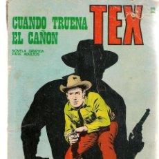 Cómics: TEX. Nº 28. CUANDO TRUENA EL CAÑÓN. BURU LAN 1971 (P/D10). Lote 152026502