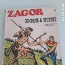 Cómics: ZAGOR Nº 23 - CONDENA A MUERTE - COLECCIÓN ZAGOR - BURU LAN EDICIONES - 1971. Lote 153068022
