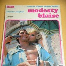 Cómics: MODESTY BLAISE, EDICIÓN TOMO, LA BARRA, EPISODIOS COMPLETOS, BURULAN AÑO 1984, BURU LAN, ERCOM B8. Lote 153707590