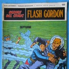 Comics : HEROES DEL COMIC - FLASH GORDON Nº 100 ''NEPTUNIA'' BURU LAN - 1972. Lote 154459218