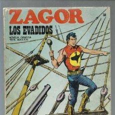 Cómics: ZAGOR 38: LOS EVADIDOS, 1972, BURU LAN, BUEN ESTADO. Lote 154744942