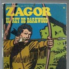 Cómics: ZAGOR 65: EL REY DE DARKWOOD, 1973, BURULAN, BUEN ESTADO. Lote 154745262