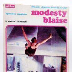 Cómics: MODESTY BLAISE ALBUM 2. EL SINDICATO DEL CRIMEN (JIM HADAWAY) BURULAN BURU LAN, 1973. Lote 155223426