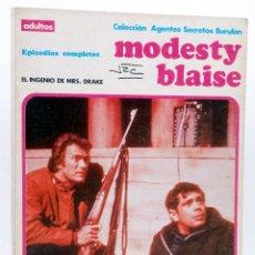 Cómics: MODESTY BLAISE ALBUM 3. EL INGENIO DE MRS DRAKE (JIM HADAWAY) BURULAN BURU LAN, 1973. Lote 155223430
