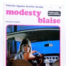 Cómics: COLECCIÓN AGENTES SECRETOS. MODESTY BLAISE FASCÍCULO 11 (JIM HADAWAY) BURULAN BURU LAN, 1973. Lote 155223442