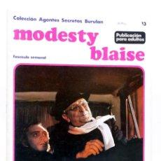 Cómics: MODESTY BLAISE FASCÍCULO 13. EL INGENIO DE MRS. DRAKE (JIM HADAWAY) BURULAN BURU LAN, 1974. Lote 155223446