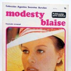 Cómics: MODESTY BLAISE FASCÍCULO 16. UN TIPO FELIZ (JIM HADAWAY) BURULAN BURU LAN, 1974. Lote 155223458