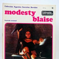 Cómics: COLECCIÓN AGENTES SECRETOS. MODESTY BLAISE FASCÍCULO 18 (JIM HADAWAY) BURULAN BURU LAN, 1974. Lote 155223884