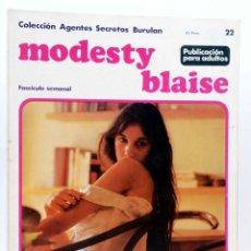 Cómics: MODESTY BLAISE FASCÍCULO 22. LOS VIKINGOS (JIM HADAWAY) BURULAN BURU LAN, 1974. Lote 155223892