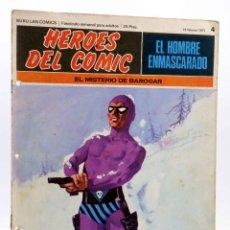 Cómics: HEROES DEL COMIC. EL HOMBRE ENMASCARADO 4. EL MISTERIO DE BAROGAR (FALK / MOORE), 1971. Lote 155223912