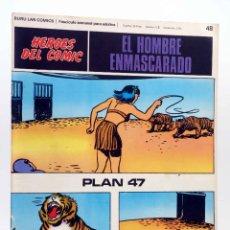 Cómics: HEROES DEL COMIC. EL HOMBRE ENMASCARADO 48. PLAN 47 (FALK / MOORE) BURULAN BURU LAN, 1971. Lote 155224382
