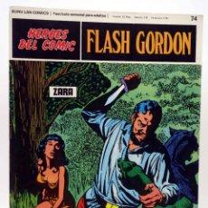 Cómics: HEROES DEL COMIC. FLASH GORDON 74. ZARA (ALEX RAYMOND) BURULAN BURU LAN, 1971. Lote 155225164