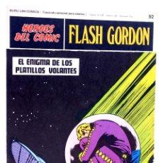 Cómics: HEROES DEL COMIC. FLASH GORDON 92. EL ENIGMA DE LOS PLATILLOS VOLANTES (ALEX RAYMOND), 1971. Lote 155225492