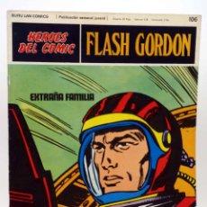 Cómics: HEROES DEL COMIC. FLASH GORDON 106. EXTRAÑA FAMILIA (ALEX RAYMOND) BURULAN BURU LAN, 1971. Lote 155225516