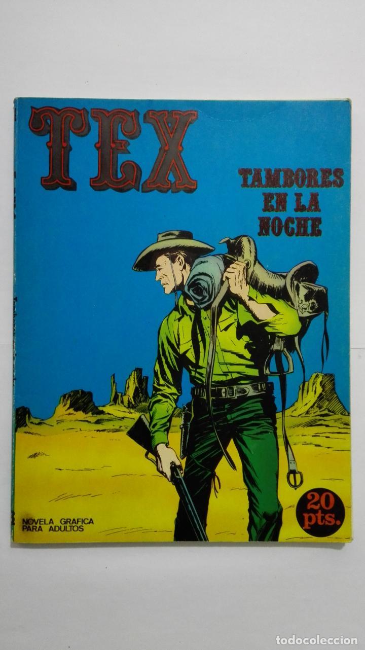 TEX Nº 4, TAMBORES EN LA NOCHE, EDICIONES BURU LAN, 1970 (Tebeos y Comics - Buru-Lan - Tex)