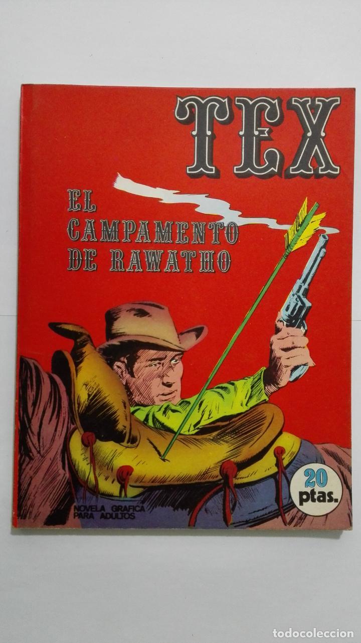 TEX Nº 8, EL CAMPAMENTO DE RAWATHO, EDICIONES BURU LAN, 1970 (Tebeos y Comics - Buru-Lan - Tex)