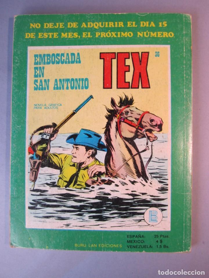 Cómics: TEX (1970, BURU LAN) 35 · 1971 · EL PASADO DE TEX - Foto 2 - 155392946