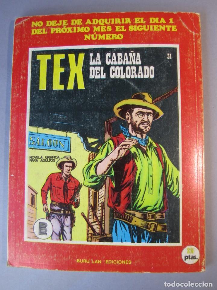 Cómics: TEX (1970, BURU LAN) 30 · 1971 · LA MESETA DE LOS ESQUELETOS - Foto 2 - 155393974