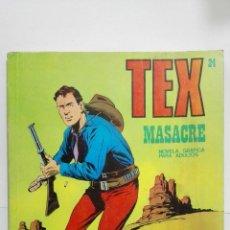 Cómics: TEX Nº 24, MASACRE, EDICIONES BURU LAN 1971. Lote 155588810