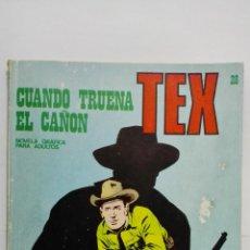 Cómics: TEX Nº 28, CUANDO TRUENA EL CAÑON, EDICIONES BURU LAN 1971. Lote 155589378