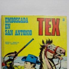 Cómics: TEX Nº 36, EMBOSCADA EN SAN ANTONIO, EDICIONES BURU LAN 1971. Lote 155590870
