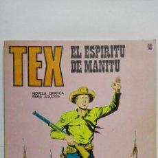 Cómics: TEX Nº 48, EL ESPIRITU DE MANITU, EDICIONES BURU LAN 1972. Lote 155592414