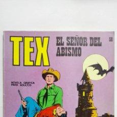 Cómics: TEX Nº 58, EL SEÑOR DEL ABISMO, EDICIONES BURU LAN 1972. Lote 155594038